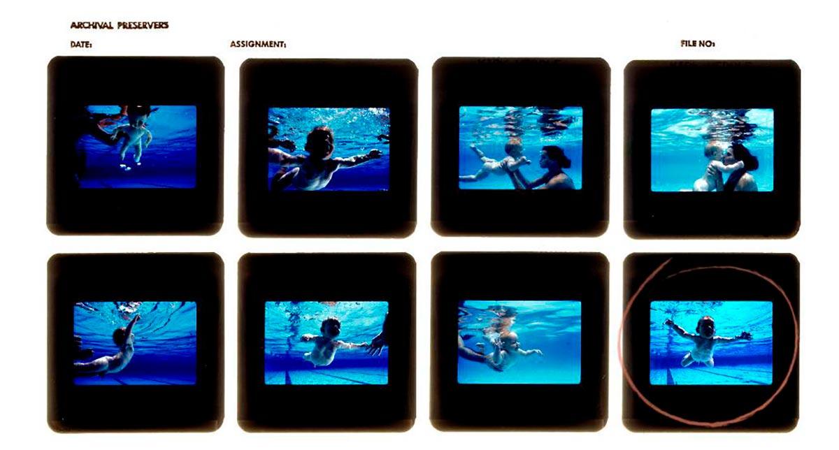 FOTO-3-Hoja-de-contactos-sesión-Nevermind-Nirvana.-Fotos-Kirk-Weddle
