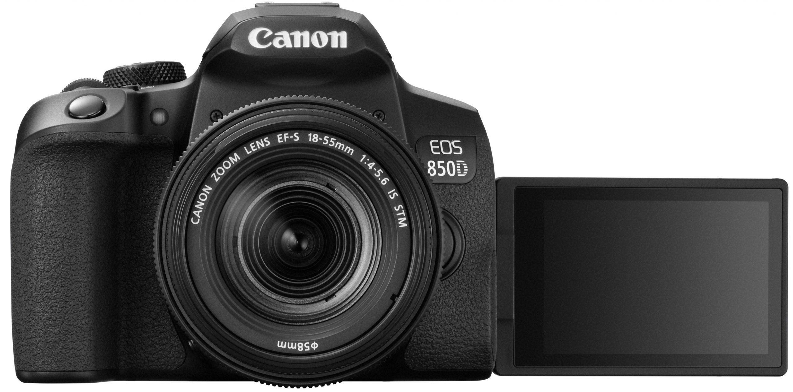 Canon-EOS-850D-EF-S18-55mm-F4-5.6ISSTM-LCD-OPEN-BK-FRT_tcm83-1944262