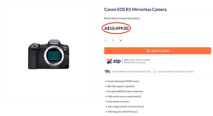 Canon-R5-precio