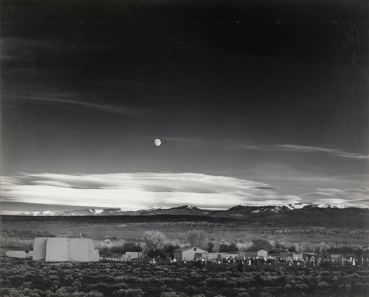 Moonrise,-Hernandez,-New-Mexico—Ansel-Adams